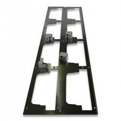 Frontblende aus Metall mit Abstandshalter für Timerleisten
